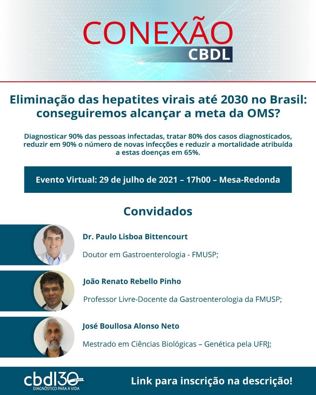 Evento 29/07 - Eliminação das hepatites virais até 2030 no Brasil