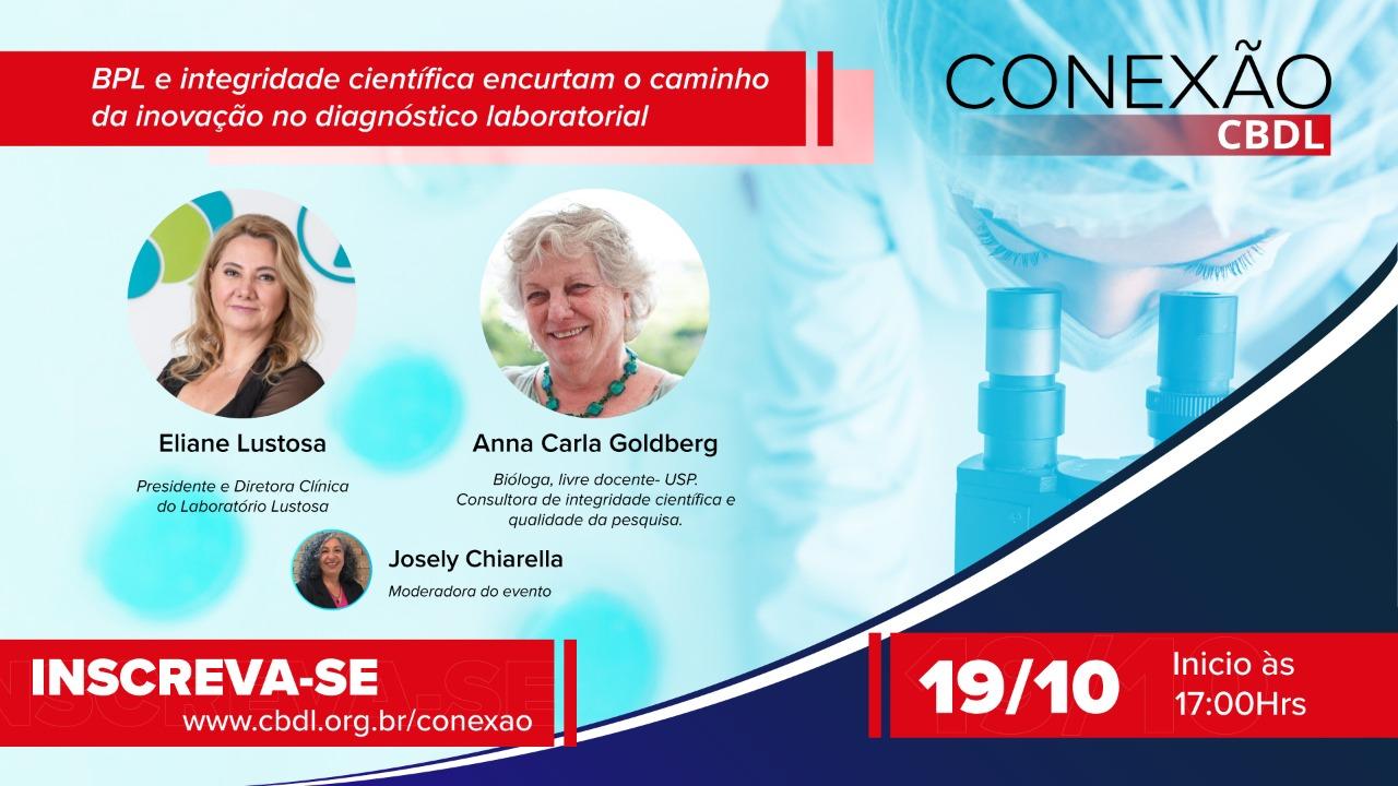 Boas Práticas de Laboratório (BPL) serão detalhadas no próximo evento da série Conexão CBDL, no dia 19 de outubro